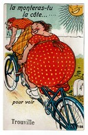 Carte à Système Complet Avec Multi-vues - Trouville - Bicyclette Vélo - Tandem - Couple - Edition Gaby N° 104  - 3 Scans - Trouville