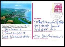 84848 BRD - P 138 - R12/184 - OO Gestempelt - 2949 Wangerland, Luftaufnahme Von Horumersiel - [7] West-Duitsland