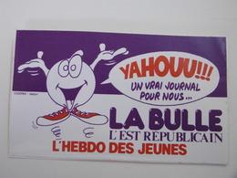 YAHOUU!!! L'Hebdo Des Jeunes  LA BULLE L'EST REPUBLICAIN - Autocollant Médias Presse Jeunesse - Autocollants