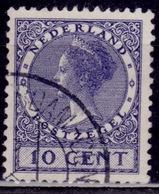 Netherlands, 1929, Queen Wilhelmina, 10c, Sc#178, Used - 1891-1948 (Wilhelmine)