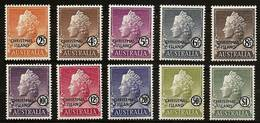 CHRISTMAS ISLAND 1958 - FREIMARKEN: QUEEN ELIZABETH II - 10v Compl  Mi 1-10 MNH ** Cv€36,00 V849a - Christmas Island