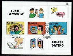 SERIE TIMBRES SAN MARINO AMORE TECNOLOGICO FD - Informática
