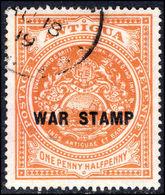Antigua 1918 1½d War Tax Fine Used. - Antigua & Barbuda (...-1981)