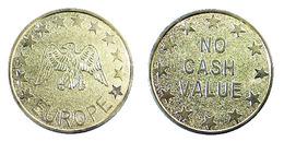 00033 GETTONE TOKEN JETON MACHINE EUROPE NO CASH VALUE EAGLE GOLDED - Royaume-Uni
