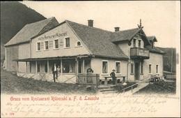 Waltersdorf Großschönau  Restaurant Rübezahl B Zittau Oberlausitz 1904 - Grossschoenau (Sachsen)