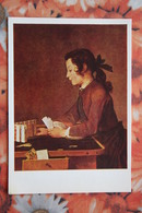 PLAYING CARDS - Postcard Gan  -  Batist  --  Simeon Sharden  Franzuzskaya Shkola  1978 - Cartes à Jouer