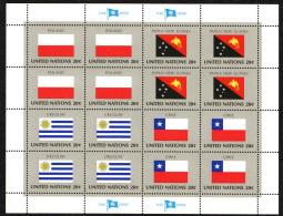 TEMATICA BANDIERE - POLAND - PAPUA NEW GUINEA - URUGUAY - CHILE - MNH - Francobolli