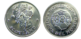 00484 GETTONE TOKEN JETON COPPA DEL MONDO FOOTBALL WORLD CUP SCOTLAND 1990 - Unclassified
