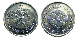 00485 GETTONE TOKEN JETON COPPA DEL MONDO FOOTBALL WORLD CUP BELGIQUE BELGE 1990 - Unclassified