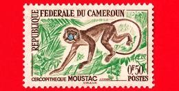 CAMERUN - Nuovo Ling. - 1962 - Animali - Scimmia - Mustache - Ceropithecus Cephus - 0.50 - Camerun (1960-...)
