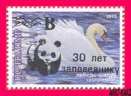 TRANSNISTRIA 2018 WWF Gold Overprint Surcharged Birds Bird Swan 1v MNH - W.W.F.