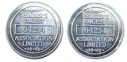 00470 GETTONE TOKEN JETON ADVERTISING VENDING READER'S DIGEST 04254 ASSOCIATION LIMITED ALU - Royaume-Uni