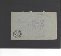 LSC 1916 - Griffe  Militaire Hospitalisé Et Cachet HOPITAL DE MONGRES - Villefrance Sur Saône (Rhone) - Marcophilie (Lettres)