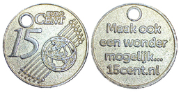 05219 GETTONE TOKEN JETON NETHERLANDS PRE EURO CARRELLO SPESA 15 CENT EURO - Pays-Bas