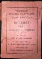 Armenian Pocket Calendar 1962 - Surp Pırgic Armenian Hospital - Calendars