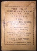 Armenian Pocket Calendar 1968 - Surp Pırgic Armenian Hospital - Calendars
