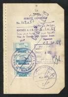Lebanon Liban 3 Revenue Stamps On Used Passport Visas Page 1968 - Liban