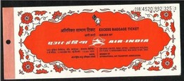 Air India Airlines Passenger Ticket  Transport Used Ticket  4 Scan - Transportation Tickets