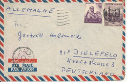 Egypt Air Mail Cover Sent To Germany - Egypt