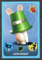 IM103 : Carrefour Panini Lapins Crétins Carte N°3 Lapin Masqué - Trading Cards