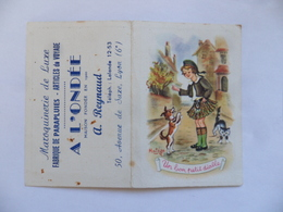 "(Calendrier De Poche 1956....) - Maroquinerie "" A L'ONDEE ""  A. REYNAUD  à LYON  (Dessin De Matéja)..........voir Scans - Calendars"