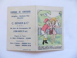 """(Calendrier De Poche 1953....) -  Confiserie  """" C. BENIER & Cie. """"   à LYON  (Dessin De Sim)..........voir Scans - Calendars"""