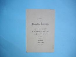 LYON  -  69  -  50° Anniversaire De La Fondation Des Filles De La Charité Paroisse De La Rédemption  -  Rhône - Faire-part
