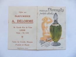 """(Calendrier De Poche 1958....) -  Parfum """" NIRMALA De Molinard """" - Parfumerie DELORME à LYON..........voir Scans - Calendars"""