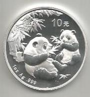 Cina, 2006, Panda, 10 Y. Ag. Fondo Specchio. - Chine