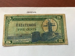 USA United States Military Payment Certificate - Military Payment Certificates (1946-1973)