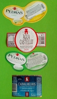 4 Étiquettes D'eau Minérale De Portugal - Etiquetas