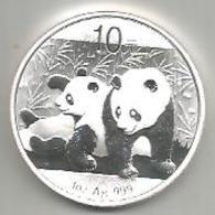Cina, 2010, Panda, 10 Y. Ag. Fondo Specchio. - Cina