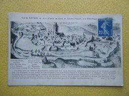 NOYERS SUR SEREIN. Vue Générale En 1610. - Noyers Sur Serein