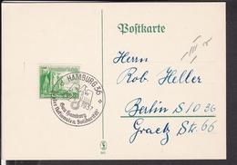 "Sonderstempel  Hamburg "" Tag Der Nationalen Solidarität "" 1937  WHW - Briefe U. Dokumente"