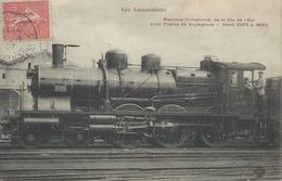 Les Locomotives Compound Cie De L'est Série 3584 à 3640 CPA Bon état 1907 - Trains