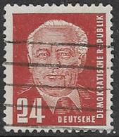 East Germany SG E11 1950 Definitive 24pf Good/fine Used [38/31362/9D] - [6] Democratic Republic