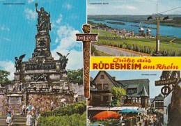 Germany Ruedesheim Niederwalddenkmal Kabinensailbahn und Drossel