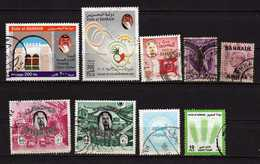 Barhein 9 Timbres Oblitérés - Bahreïn (1965-...)