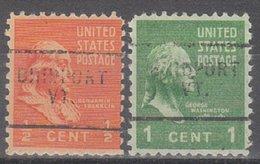 USA Precancel Vorausentwertung Preo, Locals Vermont, Bridport 703, 2 Diff. - Vereinigte Staaten