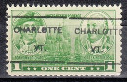 USA Precancel Vorausentwertung Preo, Locals Vermont, Charlotte L-1 HS, Commemorative Stamps - Vereinigte Staaten