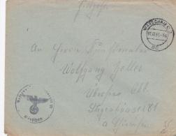 German Feldpost WW2: Reserve Lazarett VI In Warszawa - The Polish Capital P/m Warschau C2 Ac 1.12.1943 - Cover Only  (G7 - Militaria