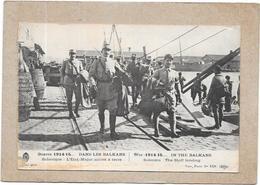 GUERRE  1914/15 - DANS LES BALKANS - SALONIQUE - L'Etat Major Arrive à Terre - DELC1 - - Guerra 1914-18