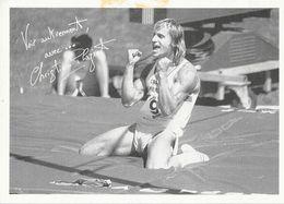 Athlétisme, Décathlon - Christian Plaziat - Carte Non Circulée Avec Palmarès - Atletismo