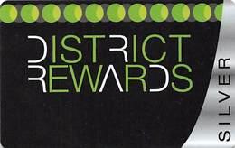 District Tavern Group - Las Vegas, NV - BLANK Silver District Rewards Slot Card - Casino Cards