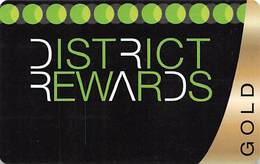 District Tavern Group - Las Vegas, NV - BLANK Gold District Rewards Slot Card - Casino Cards