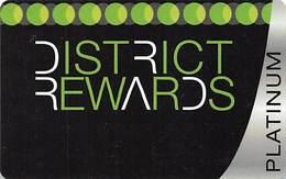 District Tavern Group - Las Vegas, NV - BLANK Platinum District Rewards Slot Card - Casino Cards