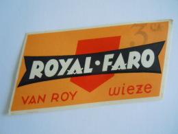 Label Etiquette Bier Bière Beer Royal Faro 3 Van Roy Wiez - Bier