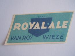 Label Etiquette Bier Bière Beer Royal-Ale Cat. Cat. 1 Van Roy Wieze - Bière