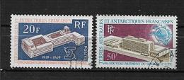Colonies  Timbre Des TAFF De 1969/70  N°32 Et 33  Oblittérés  (cote  55,50€) - Französische Süd- Und Antarktisgebiete (TAAF)