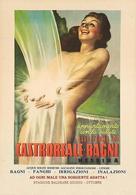 Italian Travel Postcard Sicilia Castroreale-Bagni Messina 1948 - Reproduction - Publicité